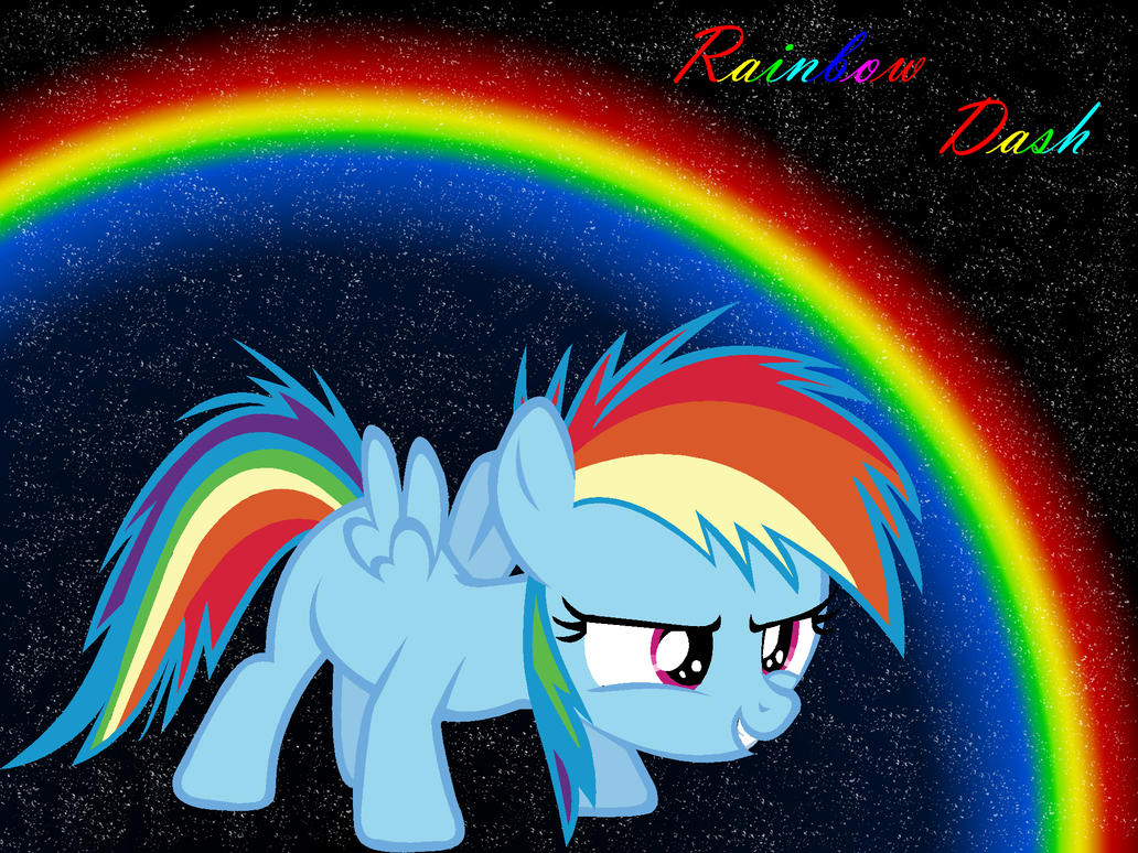 Filly Rainbow Dash by RainbowDashRocks101 on DeviantArt