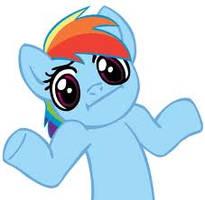 Rainbow Dash Shrug