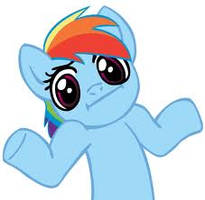 Rainbow Dash Shrug