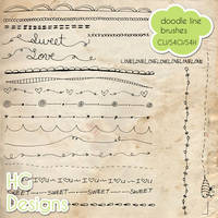 Doodle Line Brushes by HGGraphicDesigns