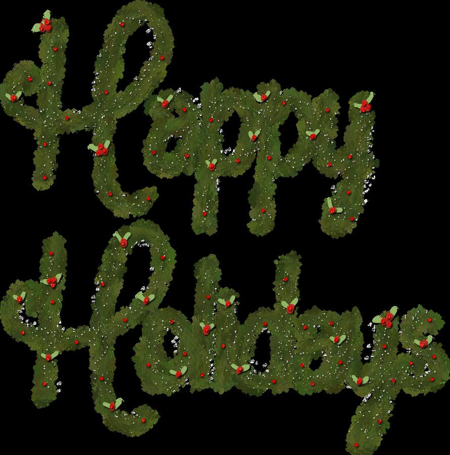 freebie: happy holidays word art - HG Designs