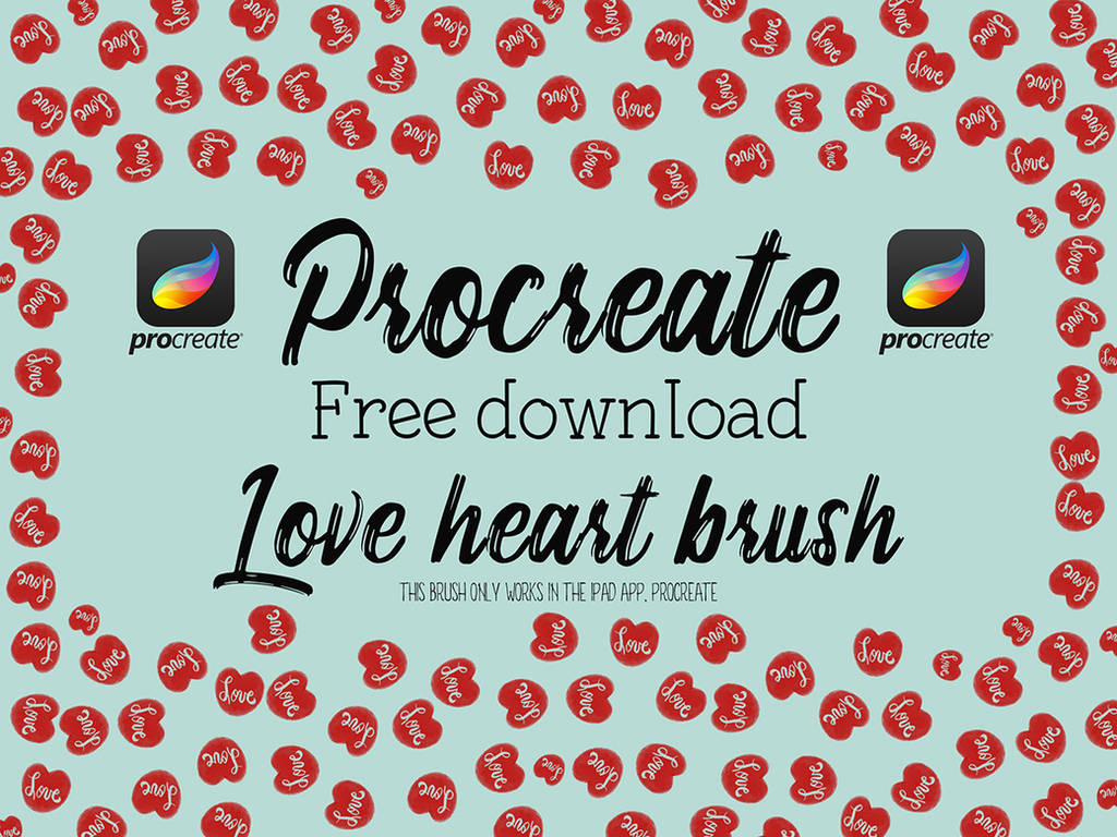 Free love hearts Procreate brushes by HGGraphicDesigns