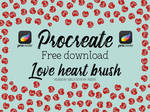 Free love hearts Procreate brushes