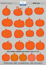 Free: Halloween Custom Shapes and Layer Styles