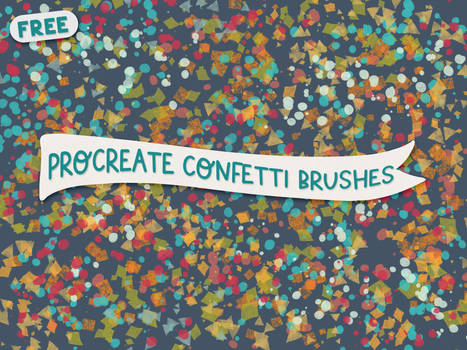 Free Procreate Confetti Brushes