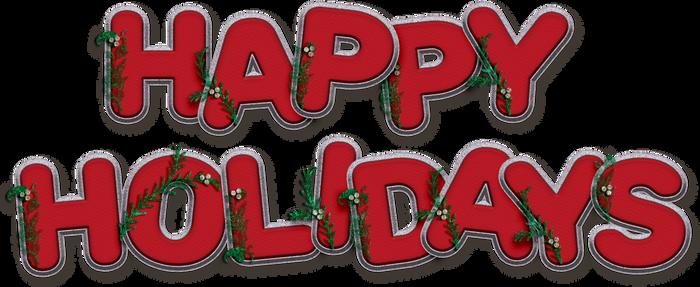 Free Word Art: Happy Holidays