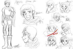 Papyrus Human Version Sketch by ChiakiKojima
