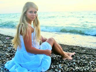 enjoying the sea and sunset by girls-n-stylestock