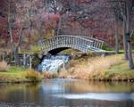 Bridge With Waterfall