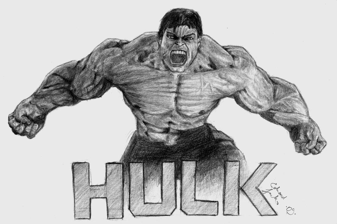 Hulk drawing by ilserk on DeviantArt