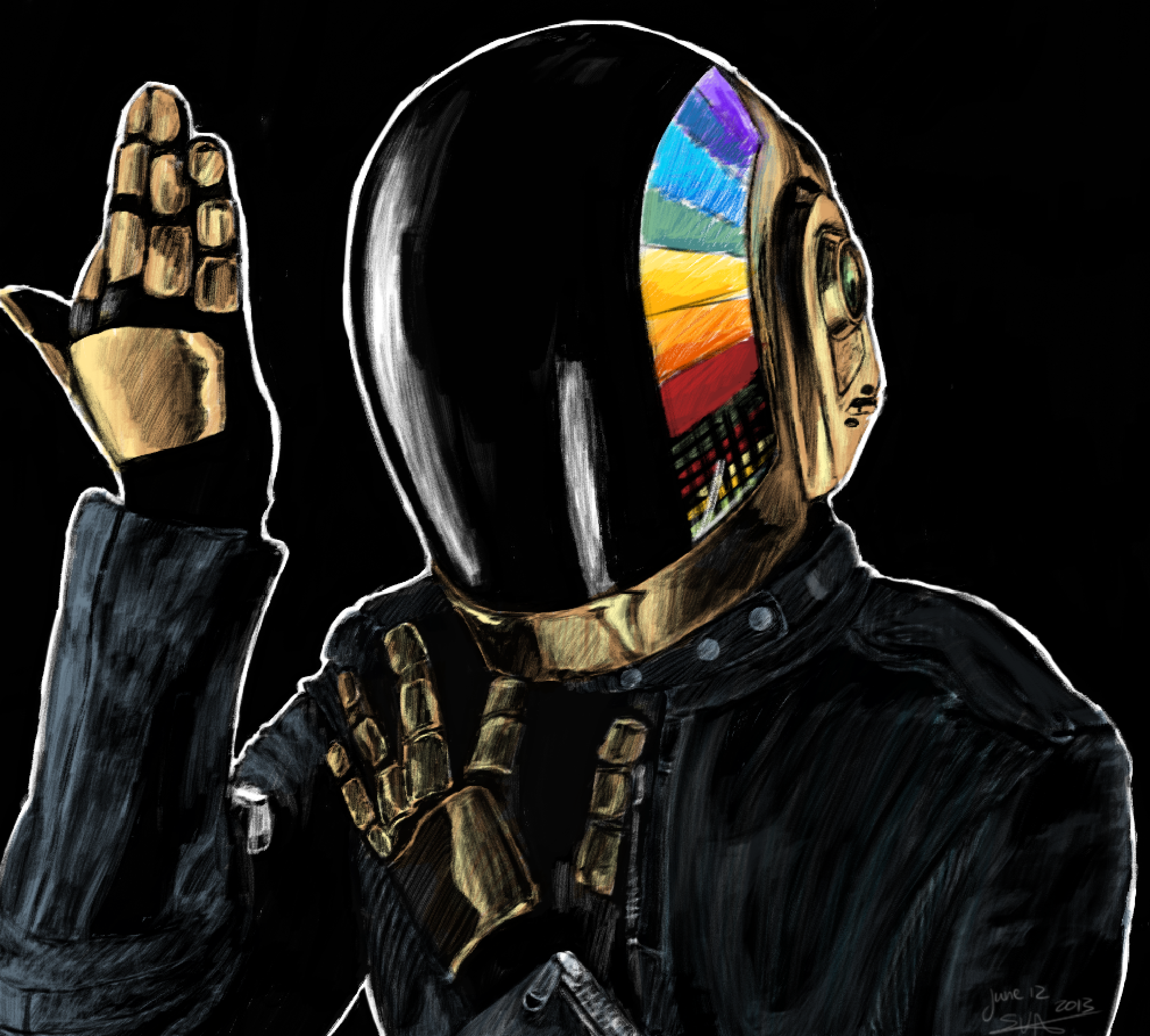 Daft Punk 1 By Deathpixels On Deviantart