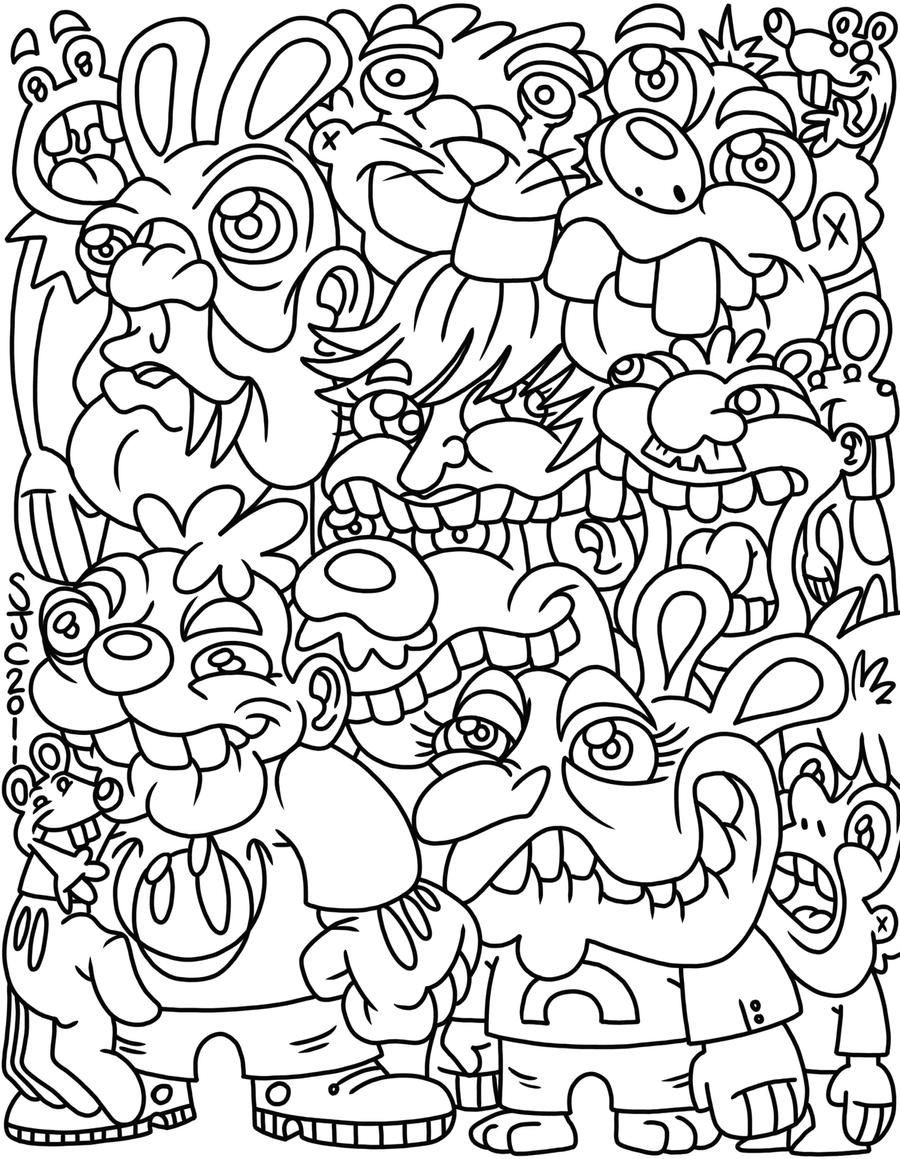 Simple Hipster Coloring Tumblr Coloring Pages