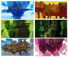 Gravity Rush Inspired Thumbnail Sketches