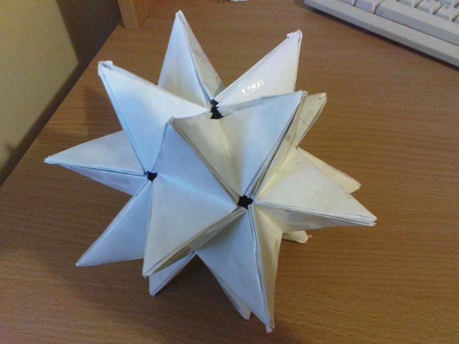 big origami spikey star by aznlancelot on deviantart
