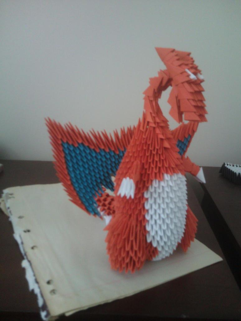 3d origami charizard by aznlancelot on deviantart