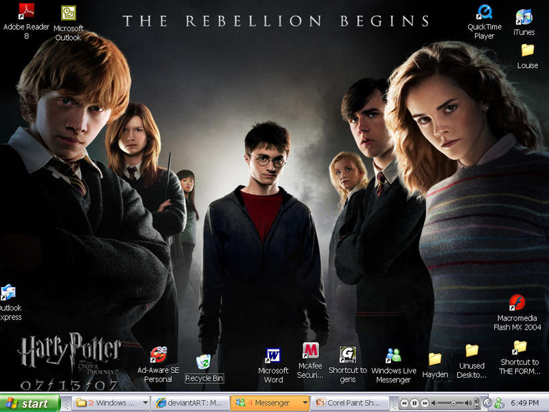 Harry Potter Desktop by Esiuol-89