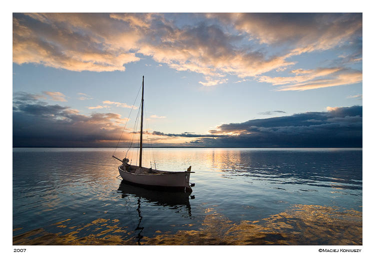 Boat at sunset 3