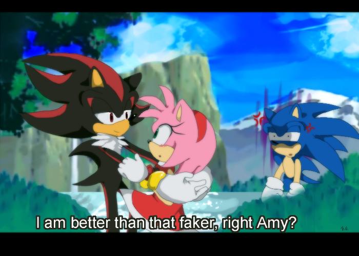 Sonic is... jealous? -fake anime screenshot- by koda-soda
