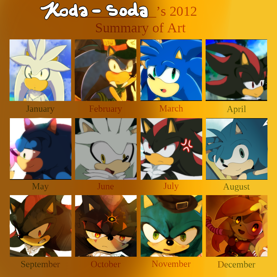 koda-soda's 2012 art summary by koda-soda