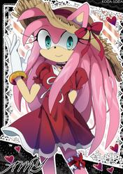 Anime Amy Rose (older ver) by koda-soda