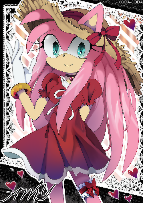 Anime Amy Rose (older ver) by koda-soda