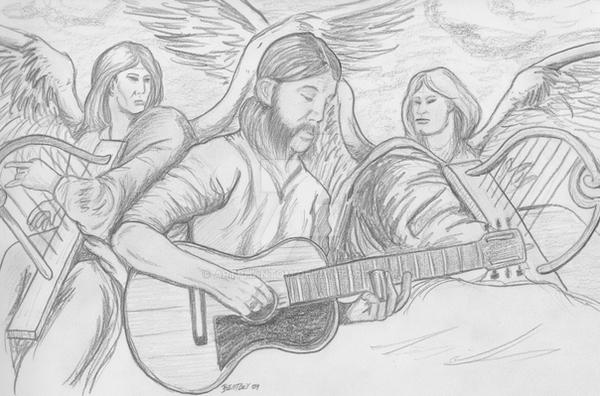 Duane Allman and Angels by artphantom