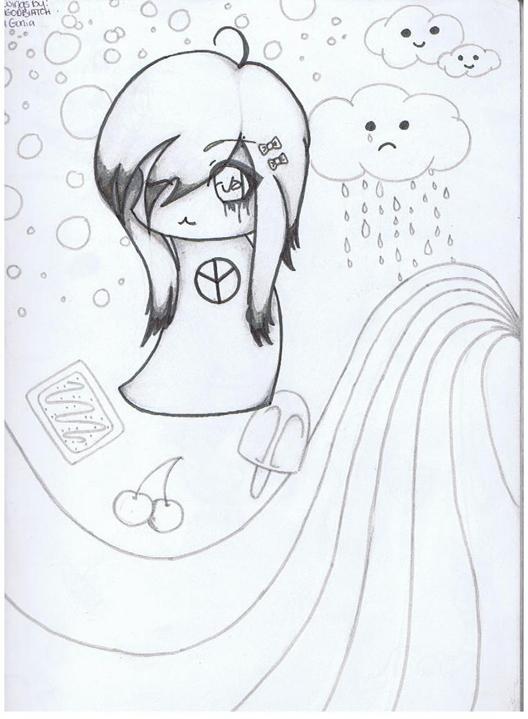 Emo chibi by iamgodbiatch on deviantart for Emo coloring pages