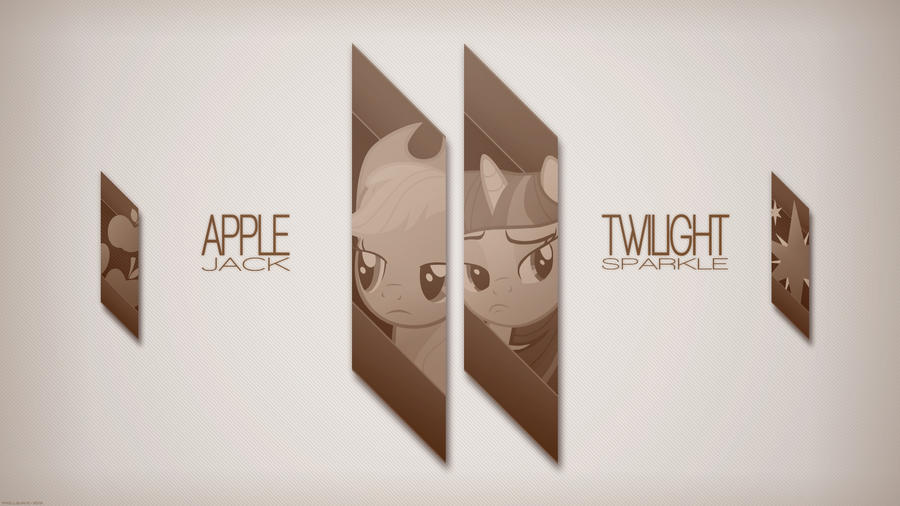 AJ and Twilight looking serious (Wallpaper) by Prollgurke