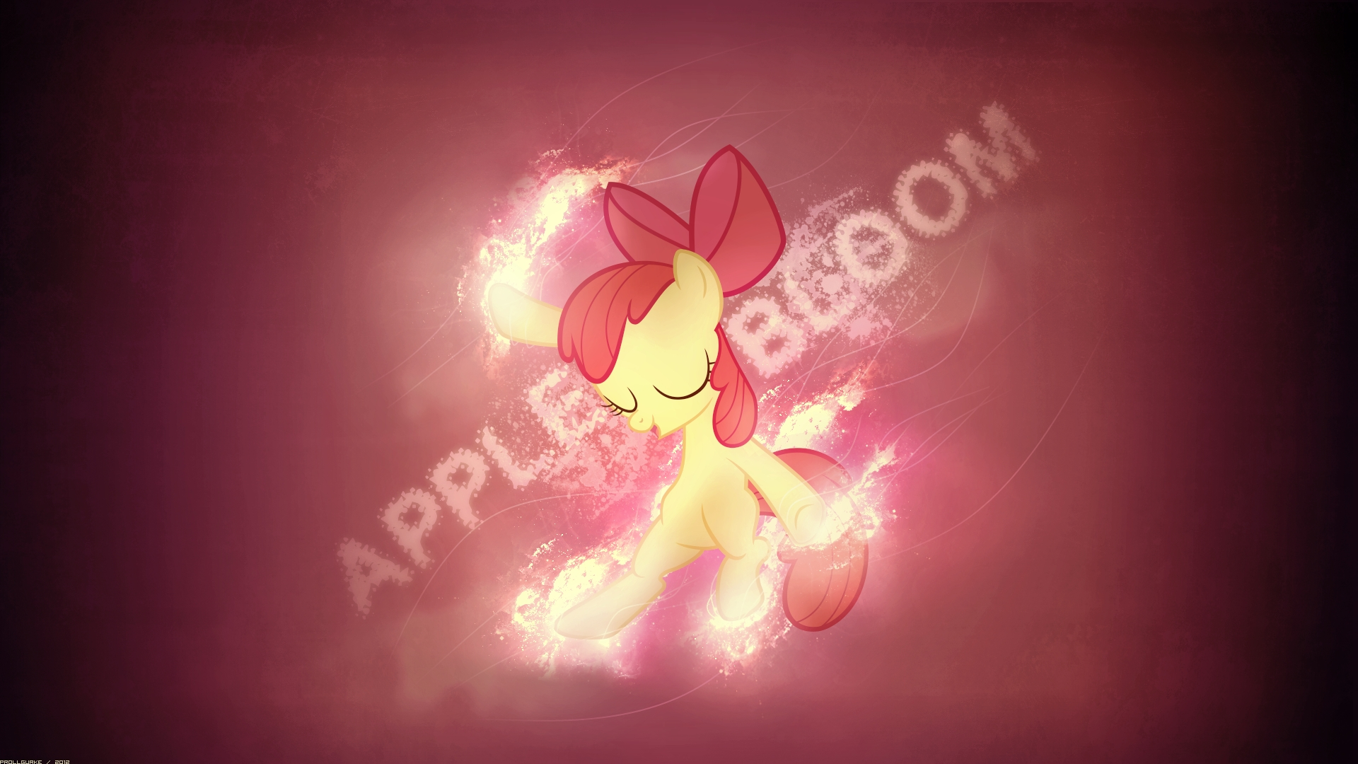 Applebloom dancing (Wallpaper) by Prollgurke