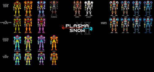 Super Metroid-Style Samus Suits