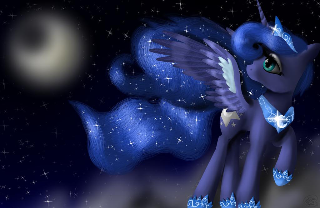 Moonie night by LunarMoonPoni