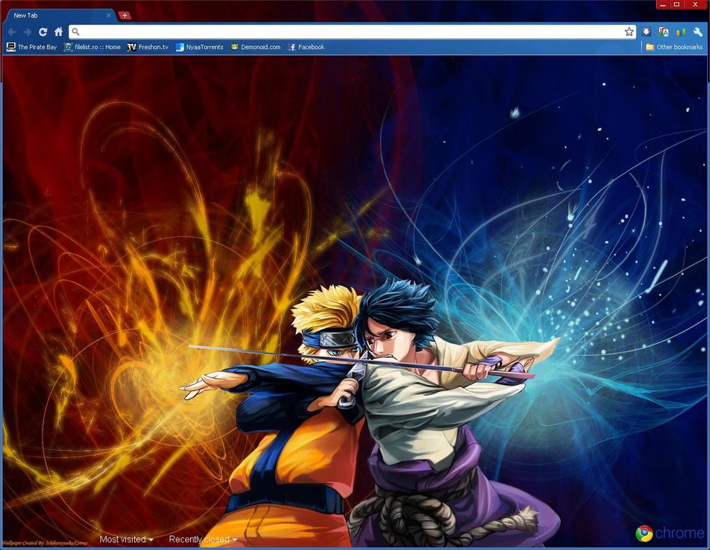 Google chrome theme itachi - Naruto Google Chrome Theme Uzumaki By Yohohotralala On 746x463 Home