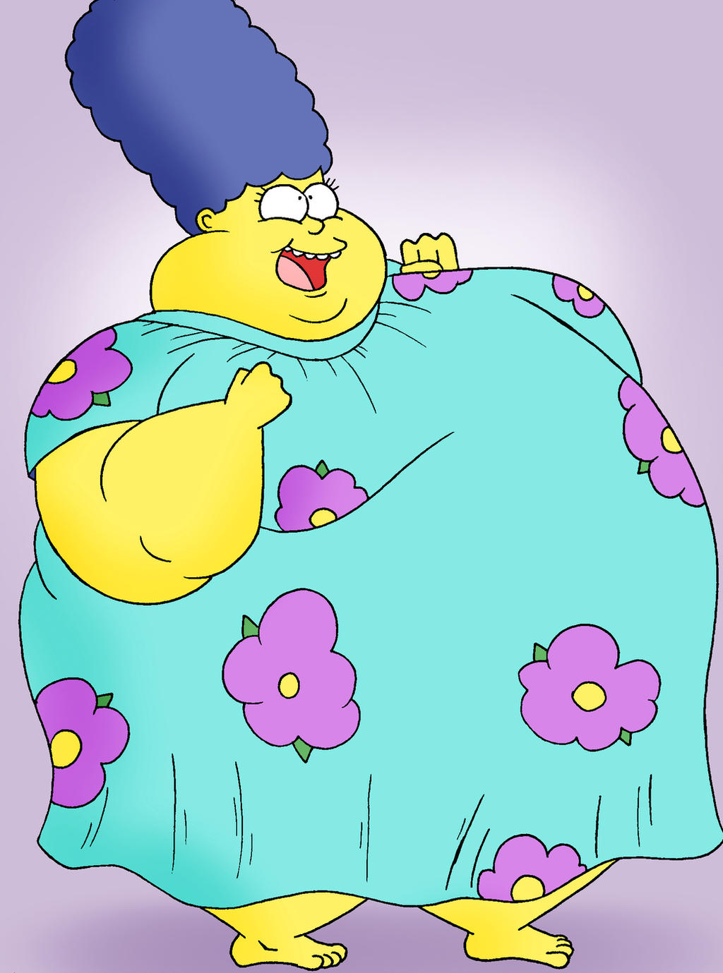 Marge the big fat dynamo by robot001 on deviantart - Marge simpson et bart ...