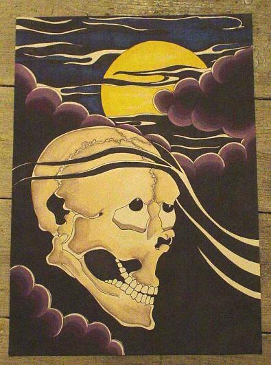 Japanese Midnight Skull by Scarlet-Hel