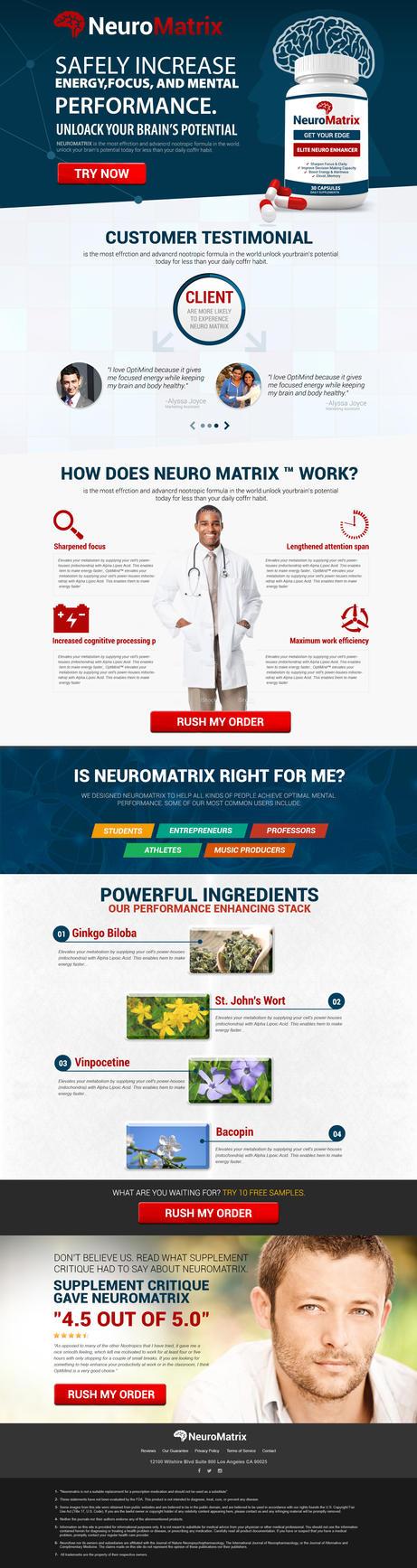 Neuro Matrix Home Page by i-amon