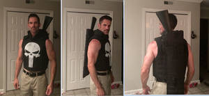 The Punisher  cosplay vest shotgun holster