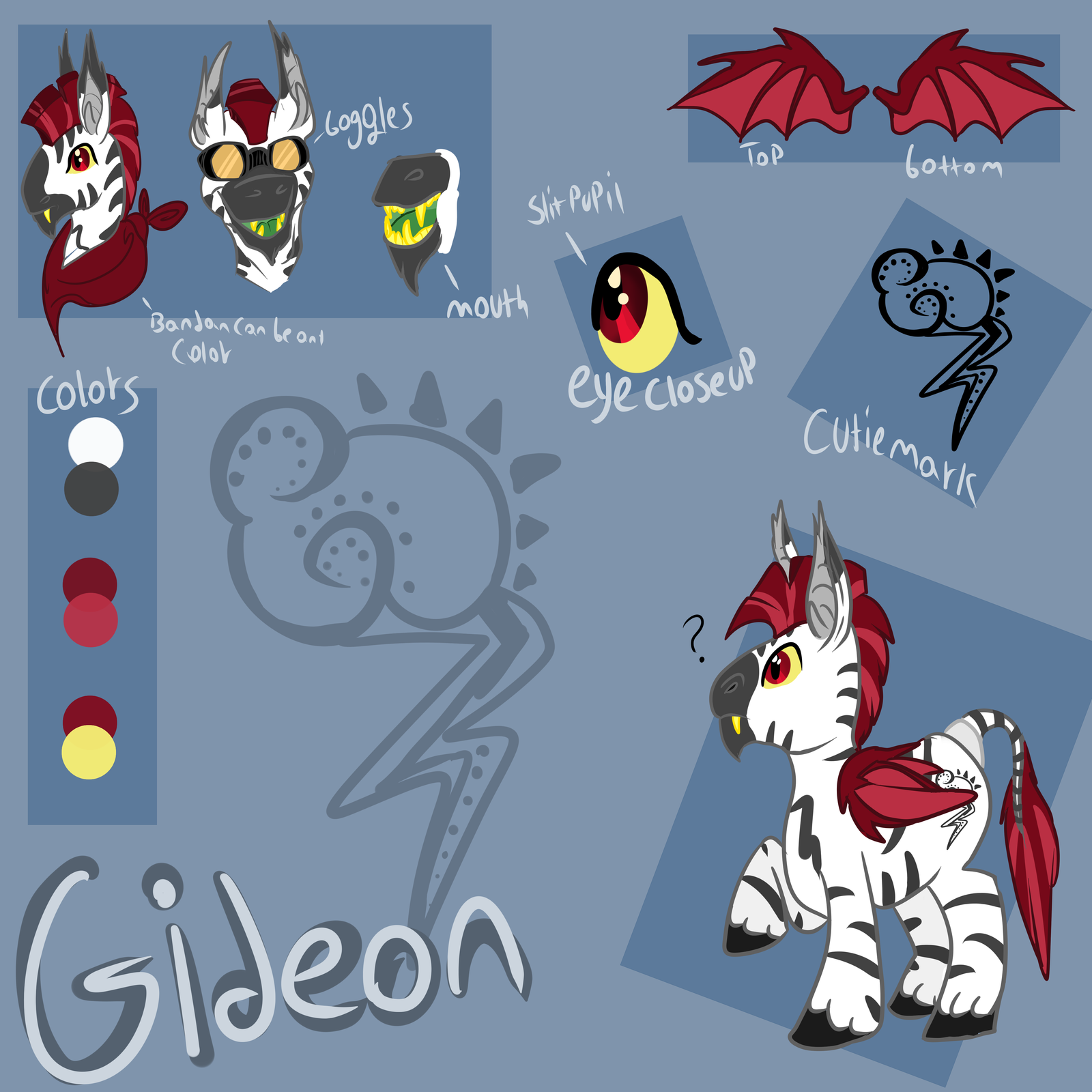 MLP: Gideon Reference Sheet by KingGigabyte