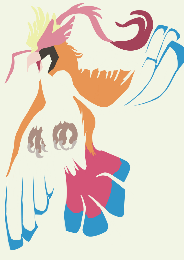 Minimalism Print: Mega Pigeot by KingGigabyte