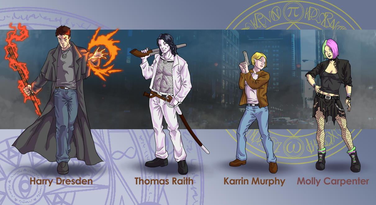 Dresden Files characters by wildcard24
