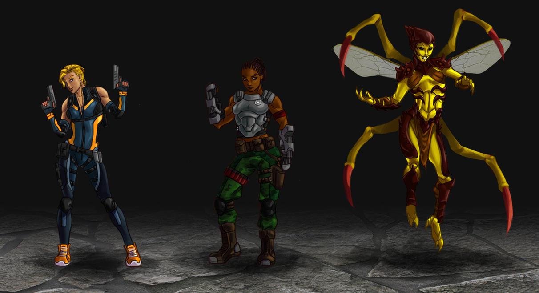Mortal Kombat redesigns by wildcard24
