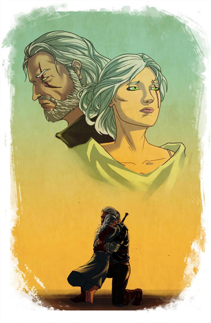 Geralt and Ciri by wildcard24