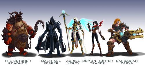 Overwatch Blizzard mashup skins 2