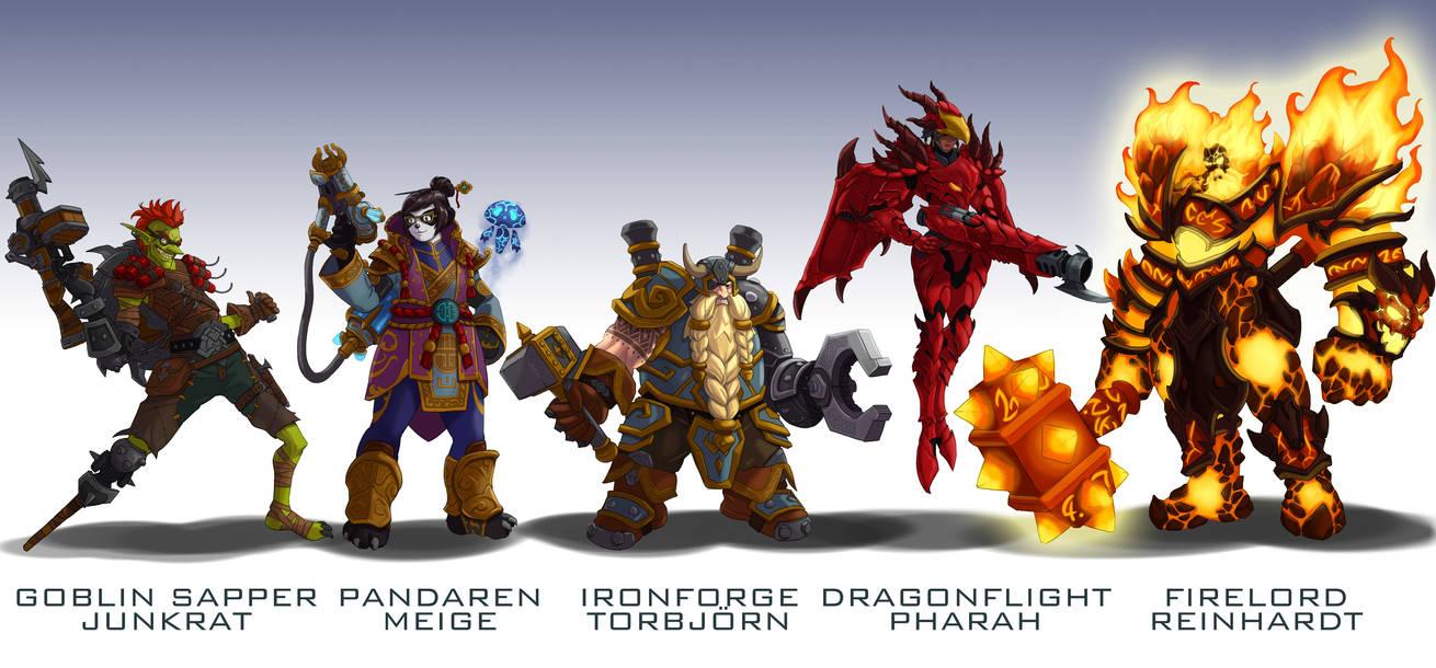 Overwatch Blizzard mashup skins 3 by wildcard24