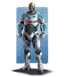 Cyborg Dad by wildcard24