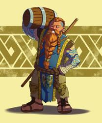 Dwarf Monk by wildcard24