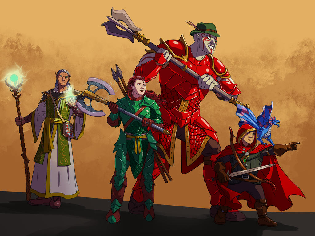 DnD Party by wildcard24