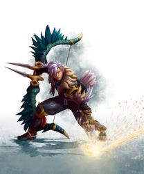 Monster Hunter Rise character art