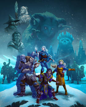 DnD Rime of the Frostmaiden campaign art