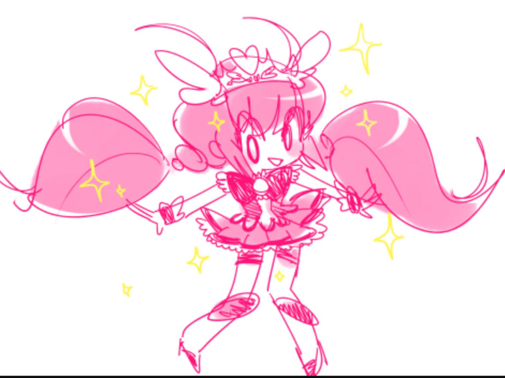 Rascal X Emily Glitter Force Coloring Pages