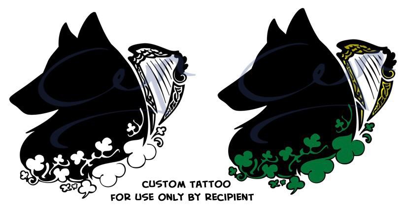 Irish Wolf Tattoo by CrownePrince